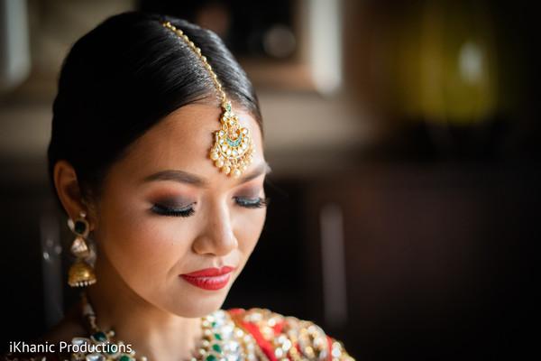 indian bride,indian wedding ceremony fashion,bridal tikka