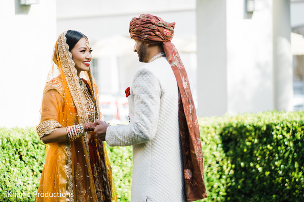 indian bride,indian wedding ceremony fashion,indian groom,first look