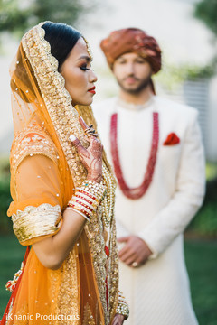 Impressive Indian bridal first look capture.