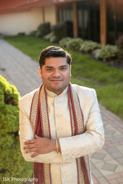 Indian groom ready for his ceremony.
