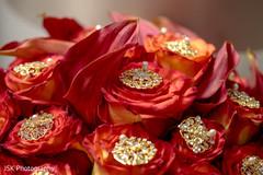 Incredible jewelry on Maharani's bouquet.