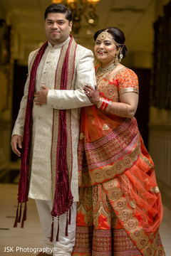 Elegant Indian bride and groom capture.
