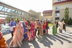 Traditional Indian groom's baraat dance.