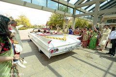 Marvelous capture of Indian bride and groom leaving ceremony capture.