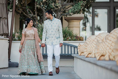 Charming moment between Indian couple