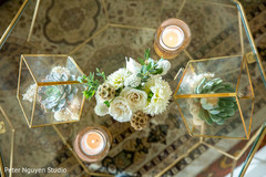 Beautiful decor details for the Indian wedding reception
