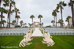 Overview of the Indian wedding outdoors venue