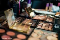 Makeup details of the make up artist