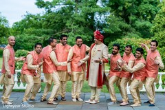 Fun capture of Indian groom and groomsmen