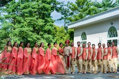 Enchanting Indian lovebirds outdoor photo shoot with guests