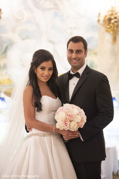 Beautiful Indian newlyweds portrait