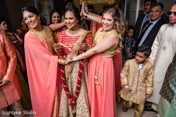 Bridesmaids with Maharani before the ceremony