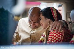 Family and Indian bride's emotional moment