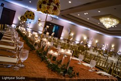 Decoration of the Indian wedding reception