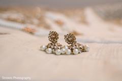 Indian wedding earrings details