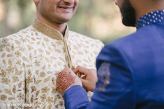 Special guest and Indian groom at prior to the ceremony