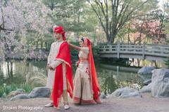 Indian bride on her way to meet the groom