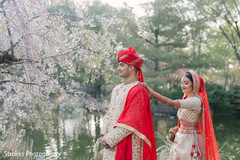 Maharani meeting the Indian groom by the river