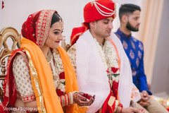 Spiritual moment of the Indian newlyweds