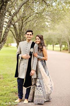 Sweet Indian newlyweds photo shoot.