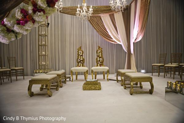 Elegant Indian wedding mandap decor.