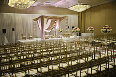 Elegant Indian wedding chairs setup.