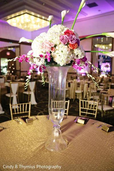 Beautiful Indian wedding floral centerpiece.
