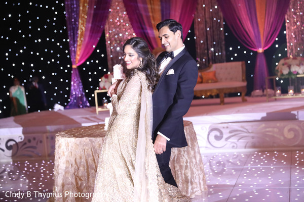 Maharani and rajah reception dance capture.