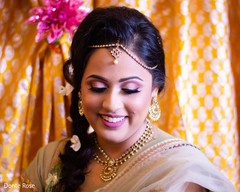 Gorgeous Indian bride at her mehndi party.