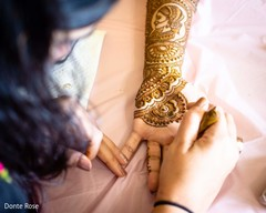 Incredible Indian bridal henna art being done.