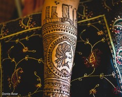 Detailed Indian bridal mehndi art capture.
