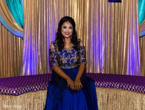 Incredible Indian bride sangeet outfit.