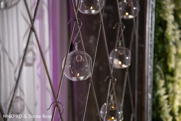 Indian wedding Crystal balls hanging decorations.