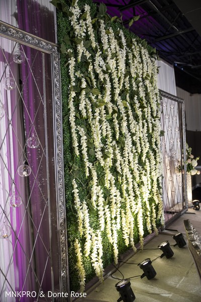 Magnificent Indian stage flowers decoration.