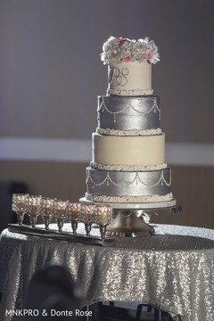 Elegant Indian wedding cake capture.