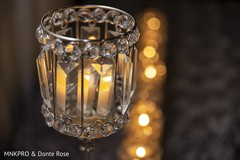 Marvelous Indian wedding Crystals candle holder decor.
