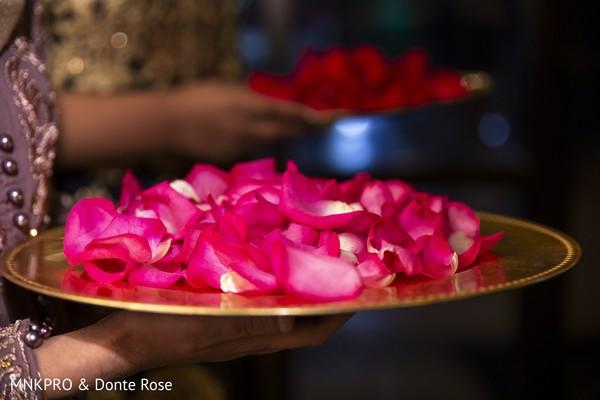 Incredible Indian wedding petals decor.