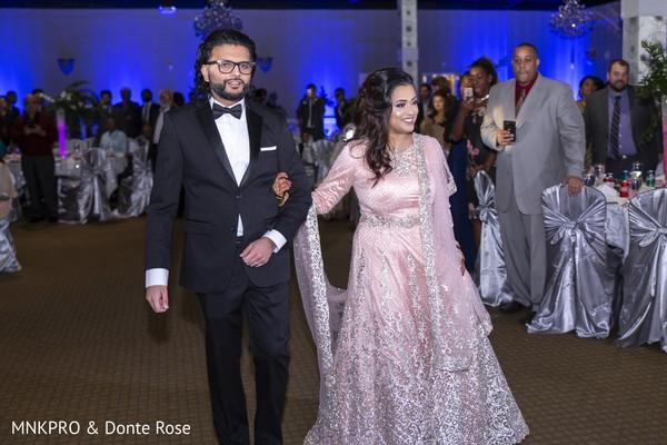 Maharani and rajah's entrance to wedding reception.