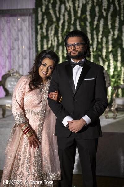 Indian lovebirds wedding portrait.