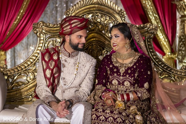 So in love Indian bride and groom capture.