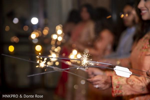 Incredible Indian wedding fireworks.