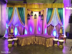 Wonderful Indian sangeet stage decoration.