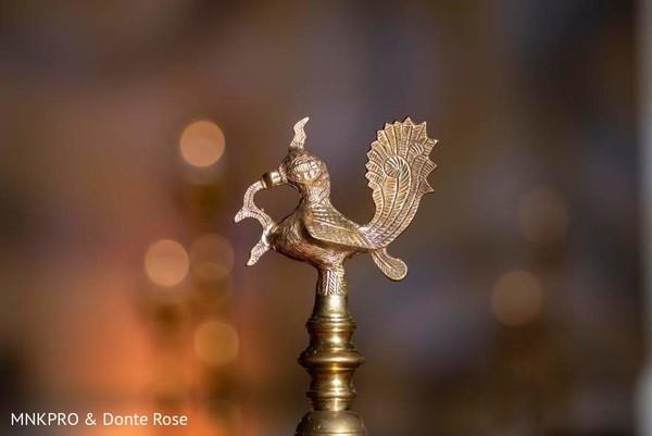 Wonderful Indian wedding bronze bird decoration.