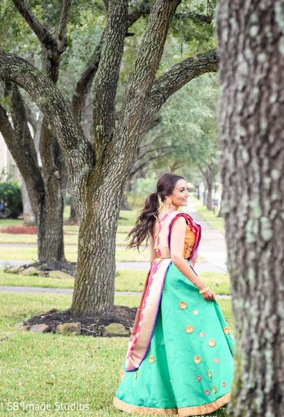 Beautiful Indian bride outdoors