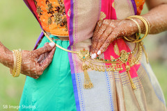 Jewelry details of Indian bride's wardrobe