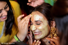 Stunning Indian bride during the Haldi ceremony
