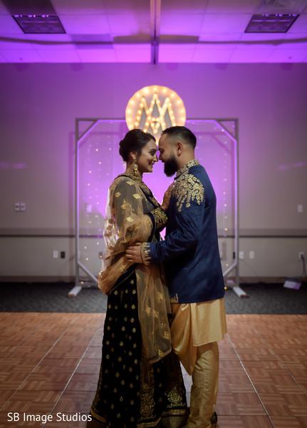Romantic moment between the Indian lovebirds