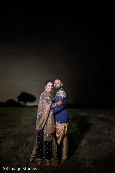 Beautiful shot of Indian couple outdoors