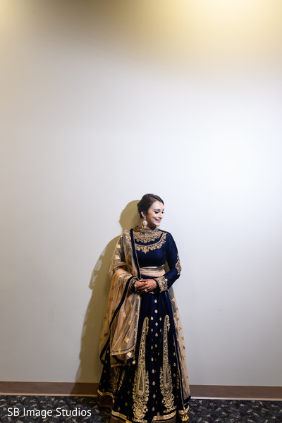 Indian bride posing during the photo shoot