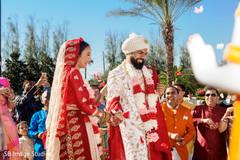 Joyful moment between the Indian couple